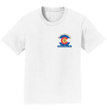 Golden Retriever Freedom Rescue Colorado Flag Logo - Left Chest - Kids' Unisex T-Shirt