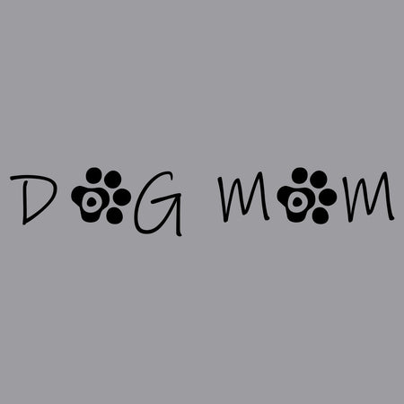 Dog Mom - Paw Text - Women's V-Neck T-Shirt