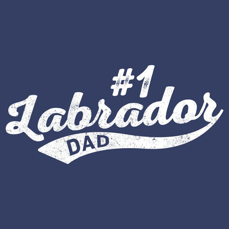 Sport Script - #1 Labrador Dad - Adult Unisex Long Sleeve T-Shirt