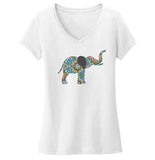 Elephant Mosaic Women's V-Neck T-Shirt | International Elephant Foundation