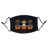 3 Pumpkin Lab Pups - Adult Adjustable Face Mask