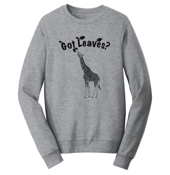 Giraffe Got Leaves Crewneck Sweatshirt | NEW Zoo & Adventure Park