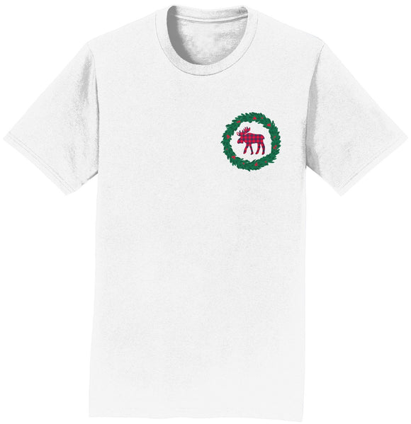 Moose Wreath - Adult Unisex T-Shirt