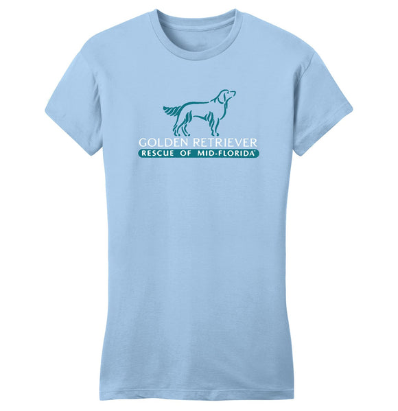Golden Retriever Rescue of Mid-Florida Logo - Ladies' Fitted T-Shirt