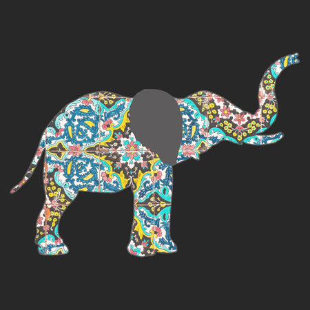 Elephant Mosaic - Adult Adjustable Face Mask