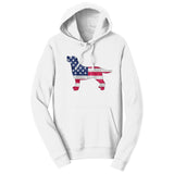 USA Flag Pattern Lab Silhouette - Adult Unisex Hoodie Sweatshirt