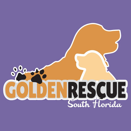 Golden Rescue South Florida Logo - Women's Tri-Blend T-Shirt