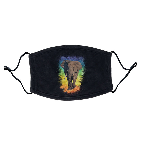 Elephant Rainbow Adjustable Face Mask | International Elephant Foundation