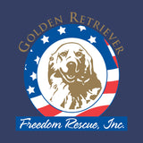 Golden Retriever Freedom Rescue Logo - Left Chest - Adult Unisex Full-Zip Hoodie Sweatshirt