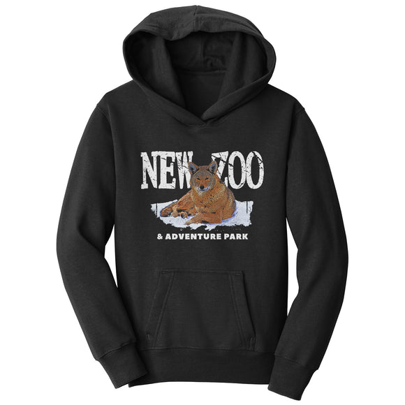 NEW Zoo & Adventure Park - NEW Zoo Red Wolf Art - Kids' Unisex Hoodie Sweatshirt