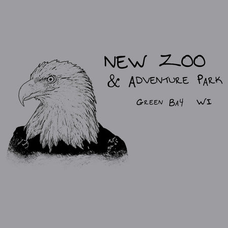 NEW Zoo Bald Eagle Outline - Adult Unisex T-Shirt