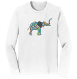 Elephant Mosaic Long Sleeve T-Shirt | International Elephant Foundation