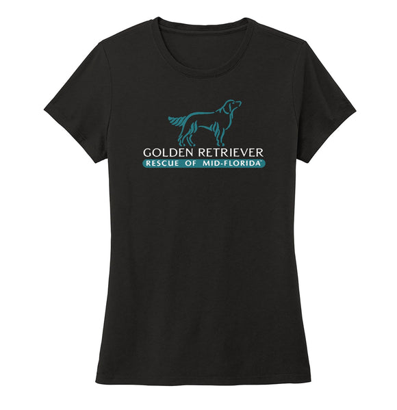 Golden Retriever Rescue of Mid-Florida Logo - Ladies' Tri-Blend T-Shirt
