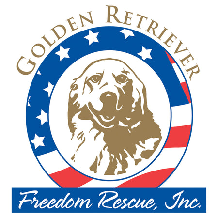 Golden Retriever Freedom Rescue Logo - Full Front - Women's Tri-Blend T-Shirt