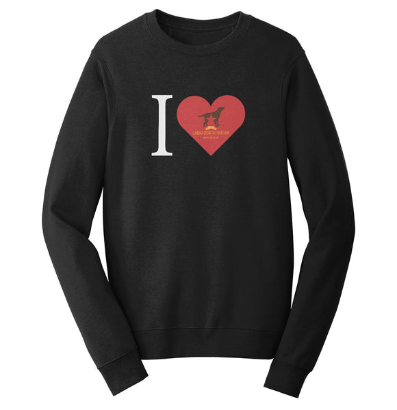 I Heart My DFW Lab Rescue - Crewneck Sweatshirt