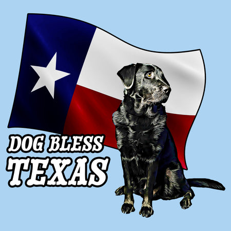 Dog Bless Texas Flag Lab - Adult Unisex T-Shirt
