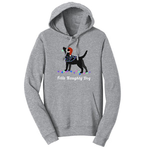 WCLRR | Feliz Naughty Dog Black Lab Hoodie Sweatshirt