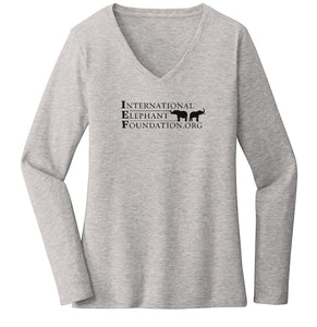 IEF Logo - Ladies' V-Neck Long Sleeve T-Shirt