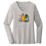 NEW Zoo & Adventure Park - NEW Zoo Minimalist Animals - Women's V-Neck Long Sleeve T-Shirt