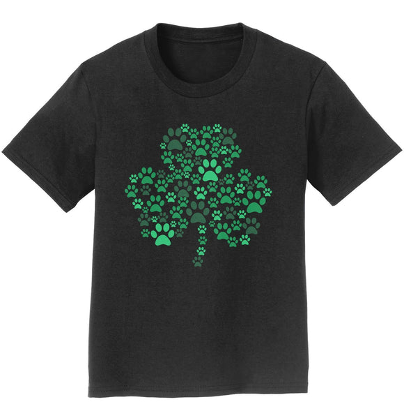 Green Paw Shamrock - Kids' Unisex T-Shirt