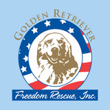 Golden Retriever Freedom Rescue Logo - Left Chest - Adult Unisex T-Shirt