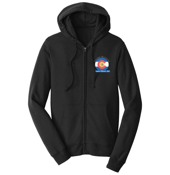 Golden Retriever Freedom Rescue Colorado Flag Logo - Left Chest - Full-Zip Hoodie