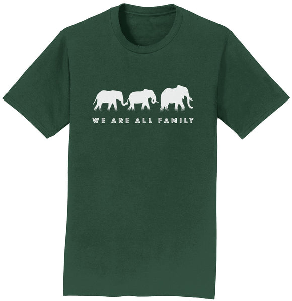 We Are All Family Elephants Silhouette T-Shirt | International Elephant Foundation