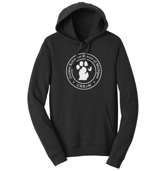 Golden Retriever Rescue of Michigan Logo - Full Front White - Hoodie