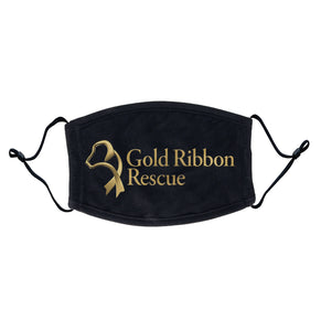 Gold Ribbon Rescue - Gold Ribbon Rescue Logo - Adult Adjustable Face Mask