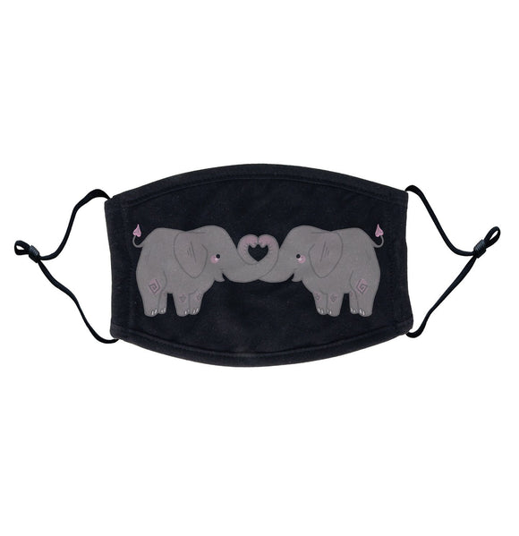Heart Elephants - Adult Adjustable Face Mask