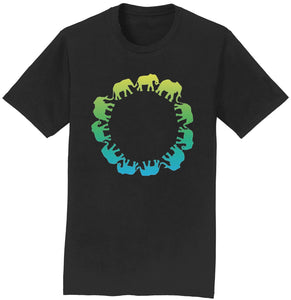 Elephant Silhouettes Circle T-Shirt | International Elephant Foundation