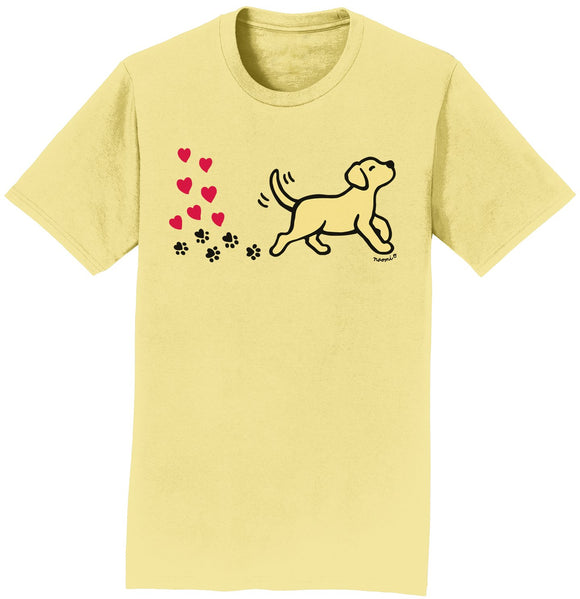 Yellow Labrador Love Trail - Adult Unisex T-Shirt