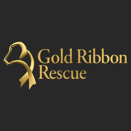 Gold Ribbon Rescue Logo - Adult Adjustable Face Mask