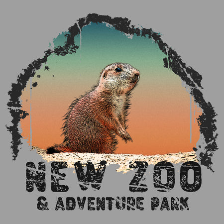 NEW Zoo Prairie Dog Sunset - Adult Tri-Blend T-Shirt