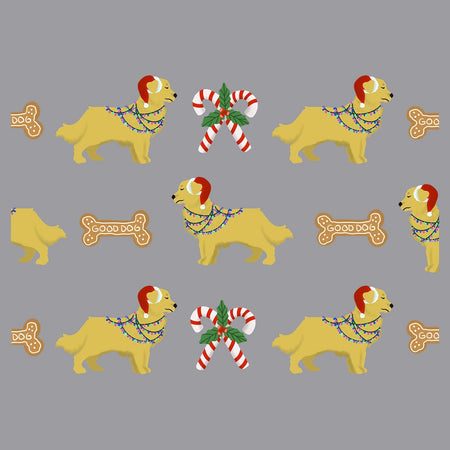 Christmas Golden Retriever Pattern - Adult Adjustable Face Mask