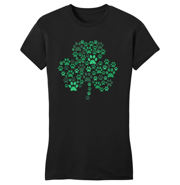 Green Paw Shamrock - Women's Fitted T-Shirt