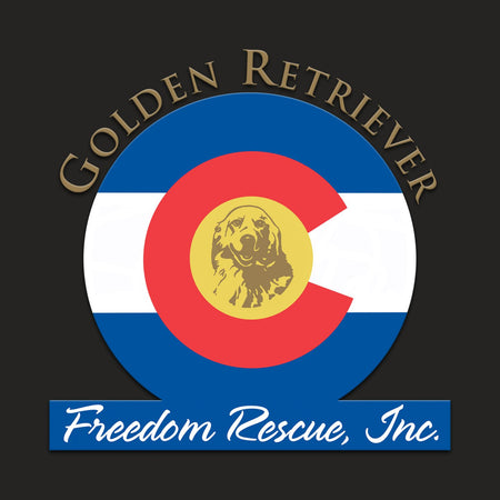 Golden Retriever Freedom Rescue Colorado Flag Logo - Left Chest - Men's Tank Top