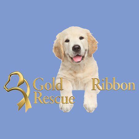 Gold Ribbon Rescue Puppy Logo - Women's Tri-Blend T-Shirt