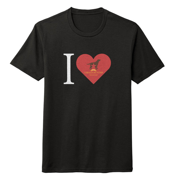 I Heart My DFW Lab Rescue - Tri-Blend T-Shirt