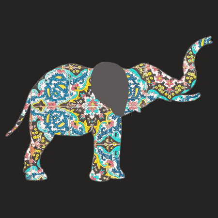 Elephant Mosaic - Adult Tri-Blend T-Shirt