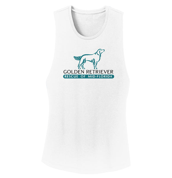 Golden Retriever Rescue of Mid-Florida Logo - Ladies' Tank Top