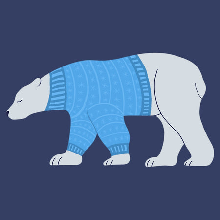 Sweater Polar Bear - Adult Unisex T-Shirt