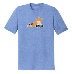 Golden Rescue of South Florida Logo - Tri-Blend T-Shirt