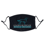 Golden Retriever Rescue of Mid-Florida Logo - Adjustable Face Mask