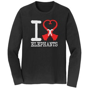 International Elephant Foundation - I Heart Elephants Long Sleeves