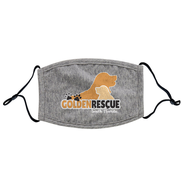Golden Rescue South Florida - Golden Rescue South Florida Logo - Adult Adjustable Face Mask