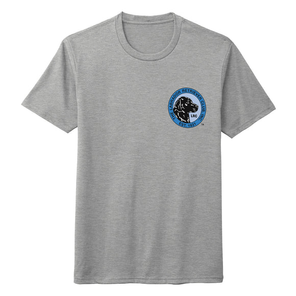The Labrador Retriever Club - LRC Logo - Left Chest Blue - Adult Tri-Blend T-Shirt