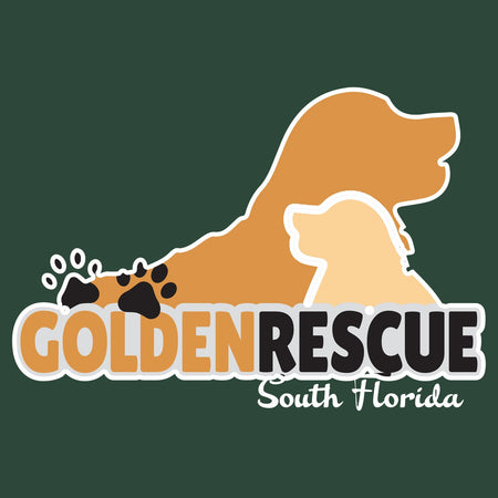 Golden Rescue of South Florida Logo - Adult Unisex T-Shirt