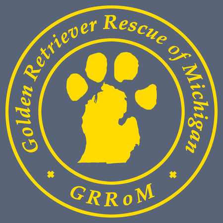 Golden Retriever Rescue of Michigan Logo - Full Front - Women's Tri-Blend T-Shirt