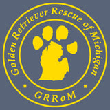 Golden Retriever Rescue of Michigan Logo - Full Front - Adult Tri-Blend T-Shirt